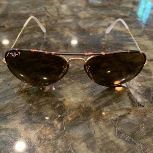 Ray-Ban Tortoise and Gold Aviators - Gently Worn